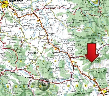 banja-josanica-mapa